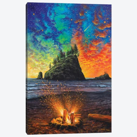 Throw The Log in 3-Piece Canvas #CBF17} by ColorByFeliks Canvas Art