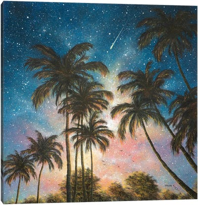 Tropical Night Canvas Art Print