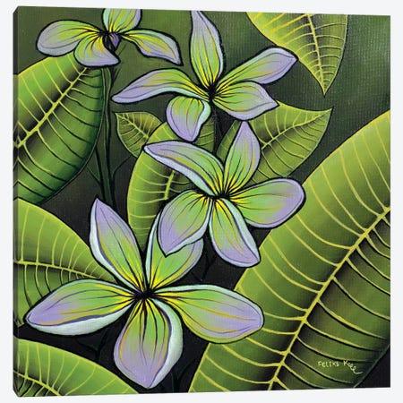 Troplical Flora Canvas Print #CBF19} by ColorByFeliks Art Print
