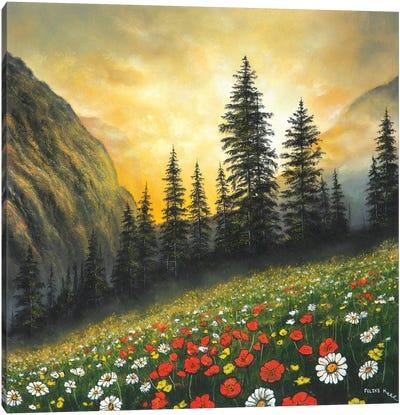 Among The Mountains Canvas Art Print
