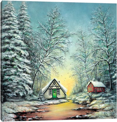 White Christmas Canvas Art Print