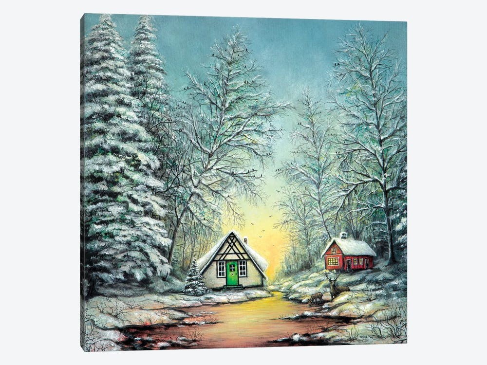 White Christmas by ColorByFeliks 1-piece Canvas Art Print
