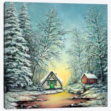 White Christmas Canvas Print #CBF20} by ColorByFeliks Canvas Art