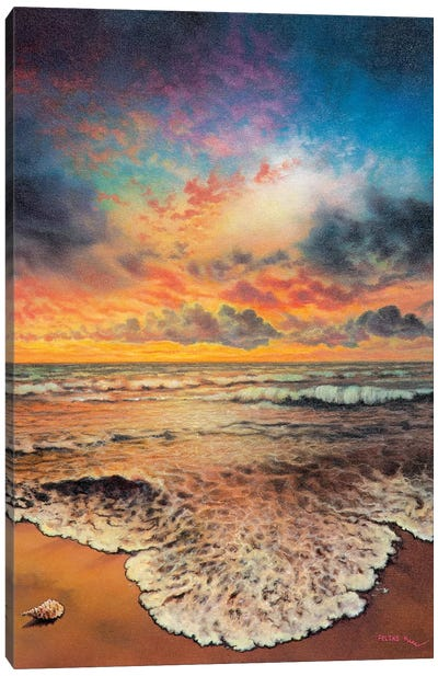 Wave After Wave Canvas Art Print