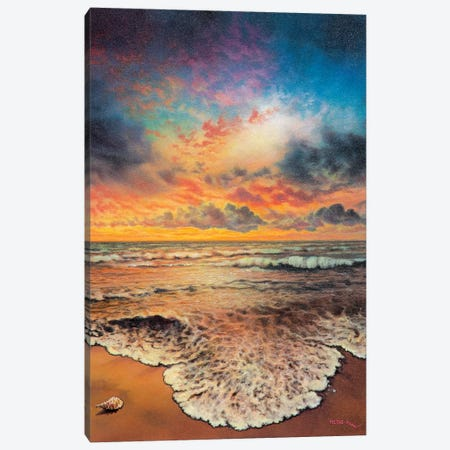 Wave After Wave Canvas Print #CBF26} by ColorByFeliks Art Print
