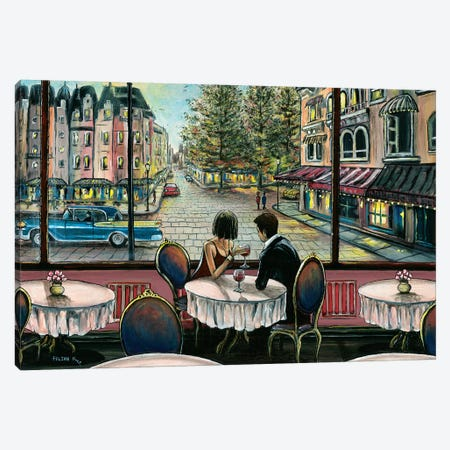 European Café Canvas Print #CBF27} by ColorByFeliks Art Print