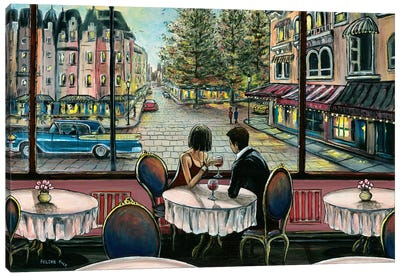 European Café Canvas Art Print