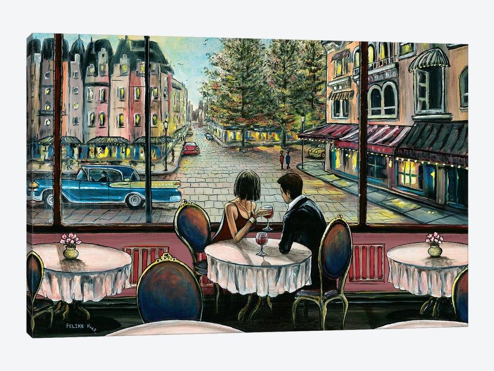 European Café Canvas Artwork By Colorbyfeliks Icanvas