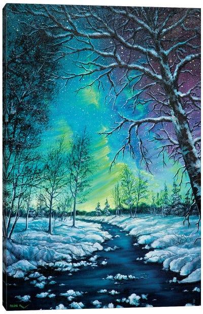Neon Night Canvas Art Print