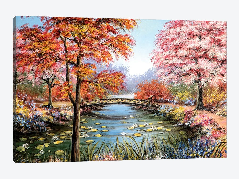 Colorful Garden by ColorByFeliks 1-piece Canvas Wall Art