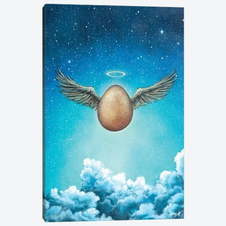 Egg Canvas Print #CBF31} by ColorByFeliks Canvas Print