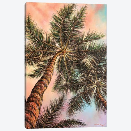 Keep Palm Canvas Print #CBF33} by ColorByFeliks Art Print