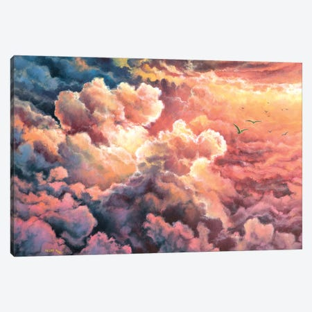 Warm  Clouds Canvas Print #CBF35} by ColorByFeliks Canvas Art
