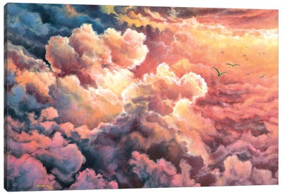 Warm  Clouds Canvas Art Print