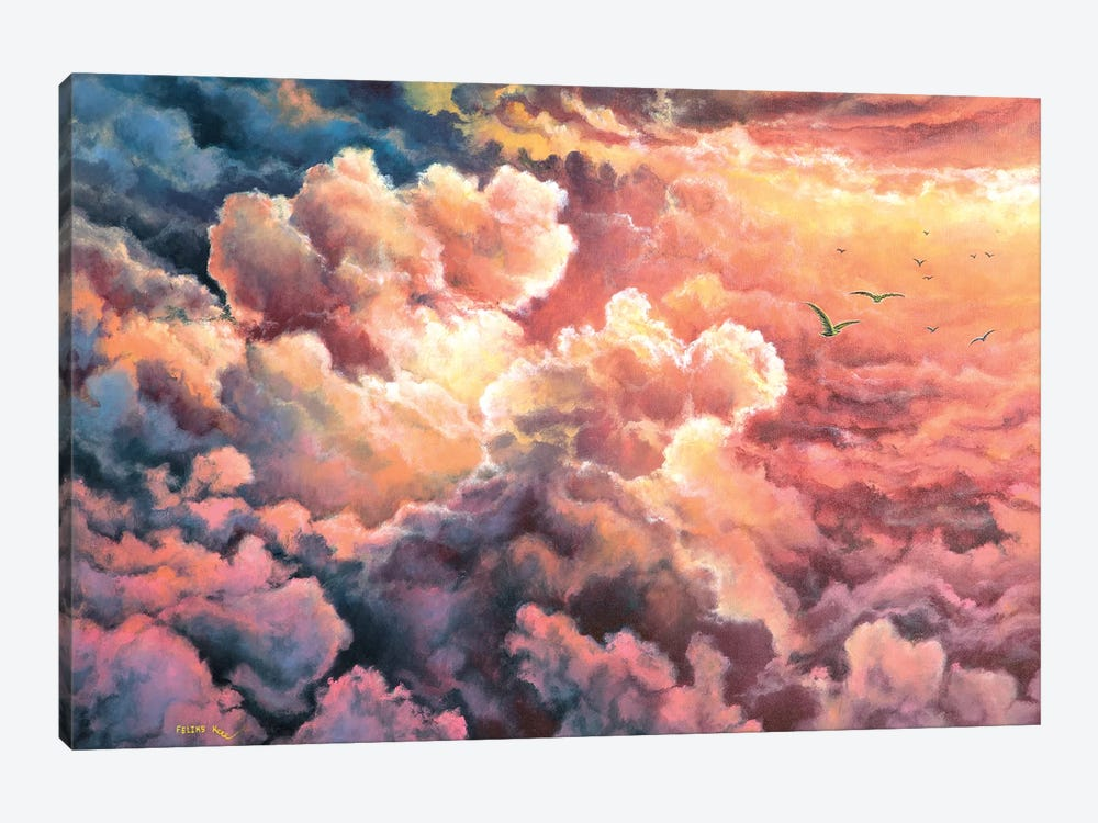 Warm  Clouds by ColorByFeliks 1-piece Art Print