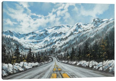 Mountain Drive Canvas Art Print