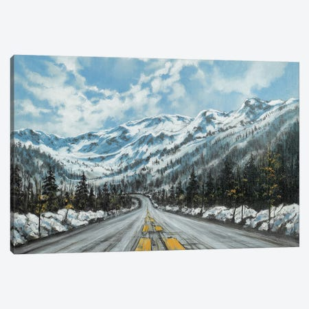 Mountain Drive Canvas Print #CBF38} by ColorByFeliks Canvas Art Print
