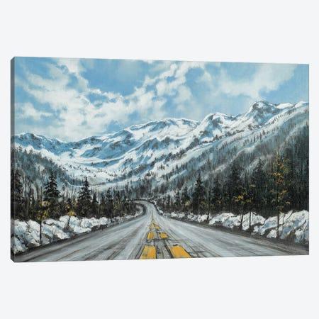 Mountain Drive Canvas Print #CBF38} by ColorByFeliks Canvas Art Print