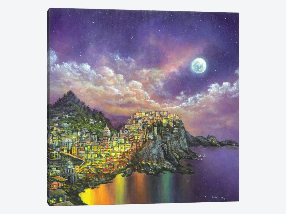 City On A Hill by ColorByFeliks 1-piece Canvas Print