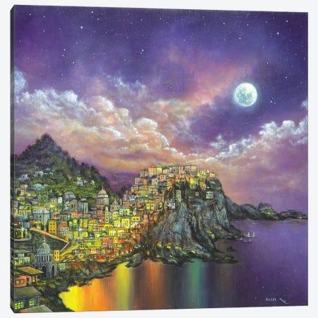City On A Hill Canvas Print #CBF3} by ColorByFeliks Art Print