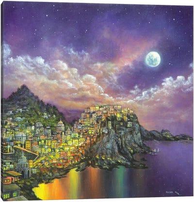 City On A Hill Canvas Art Print