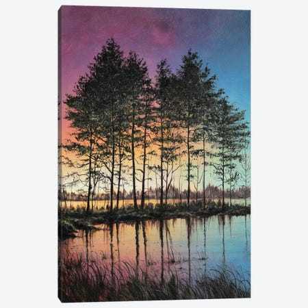 Stillness 3-Piece Canvas #CBF41} by ColorByFeliks Canvas Art