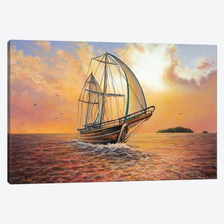 Just Passing By Canvas Print #CBF7} by ColorByFeliks Canvas Artwork
