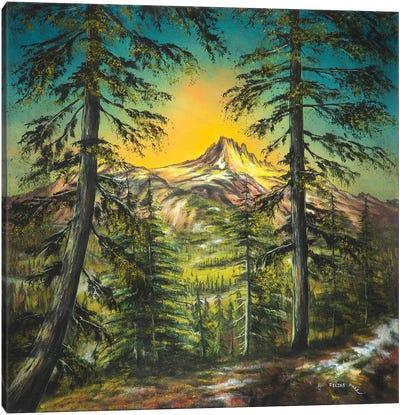 Mountain Glow Canvas Art Print