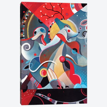 Greyhound Blood Canvas Print #CBG11} by Martin Cambriglia Canvas Wall Art