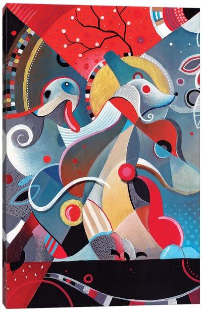 Greyhound Blood Canvas Art Print