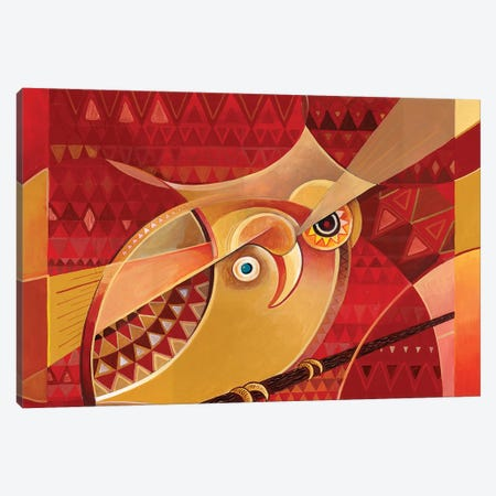 Kobi Kobi The Little African Owl Canvas Print #CBG13} by Martin Cambriglia Canvas Wall Art