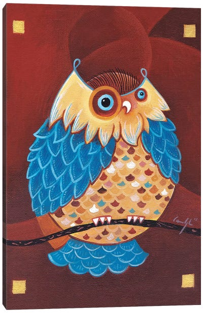 Lake Ladoga Owl I Canvas Art Print