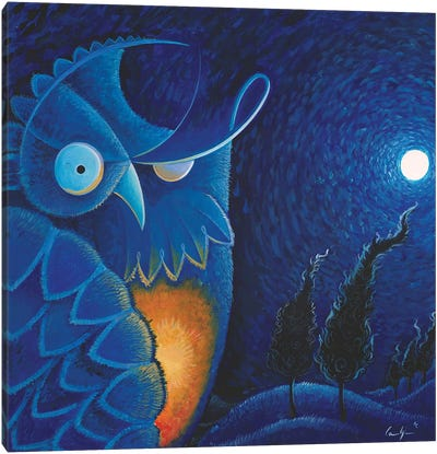 Owl Vincent Canvas Art Print