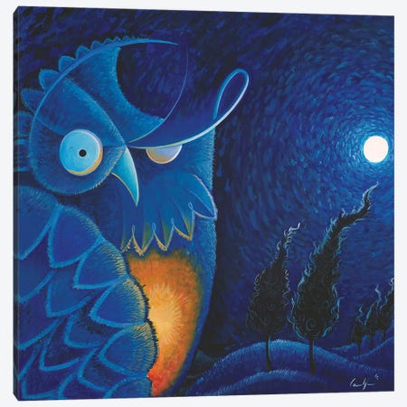 Owl Vincent Canvas Print #CBG16} by Martin Cambriglia Canvas Art Print