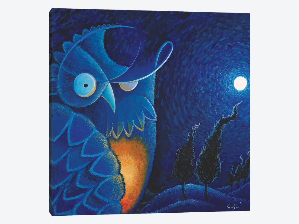 Owl Vincent by Martin Cambriglia 1-piece Canvas Print