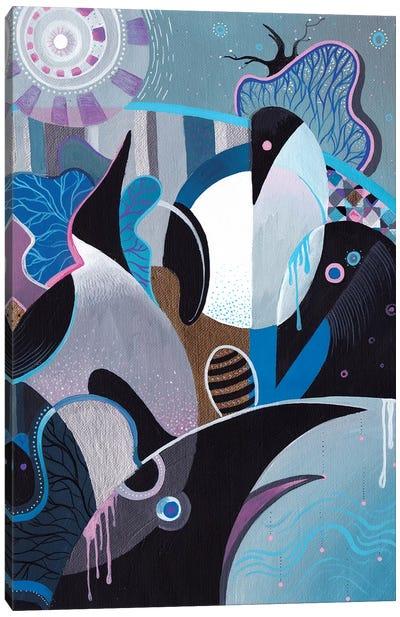 Penguin Flowering Canvas Art Print