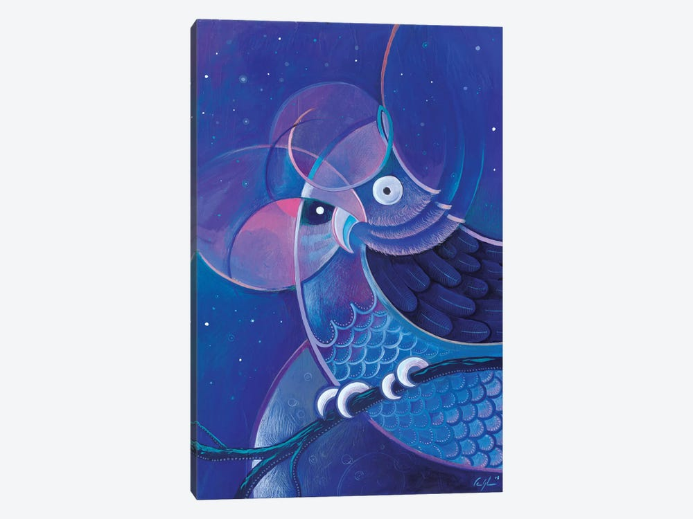 Alchemic Owl by Martin Cambriglia 1-piece Canvas Wall Art