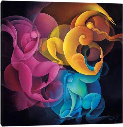 Primary Dynamism Canvas Art Print