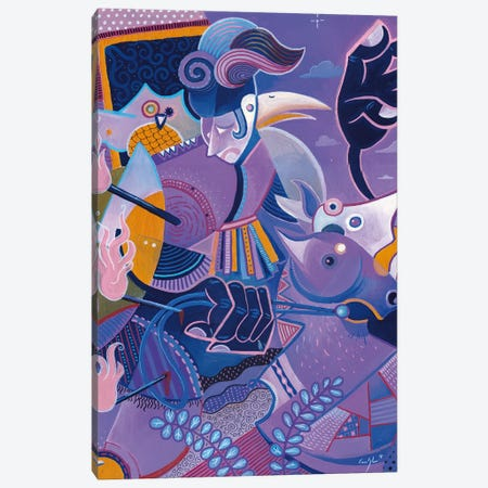 Purple Knight Canvas Print #CBG21} by Martin Cambriglia Canvas Art Print