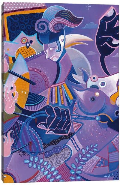 Purple Knight Canvas Art Print
