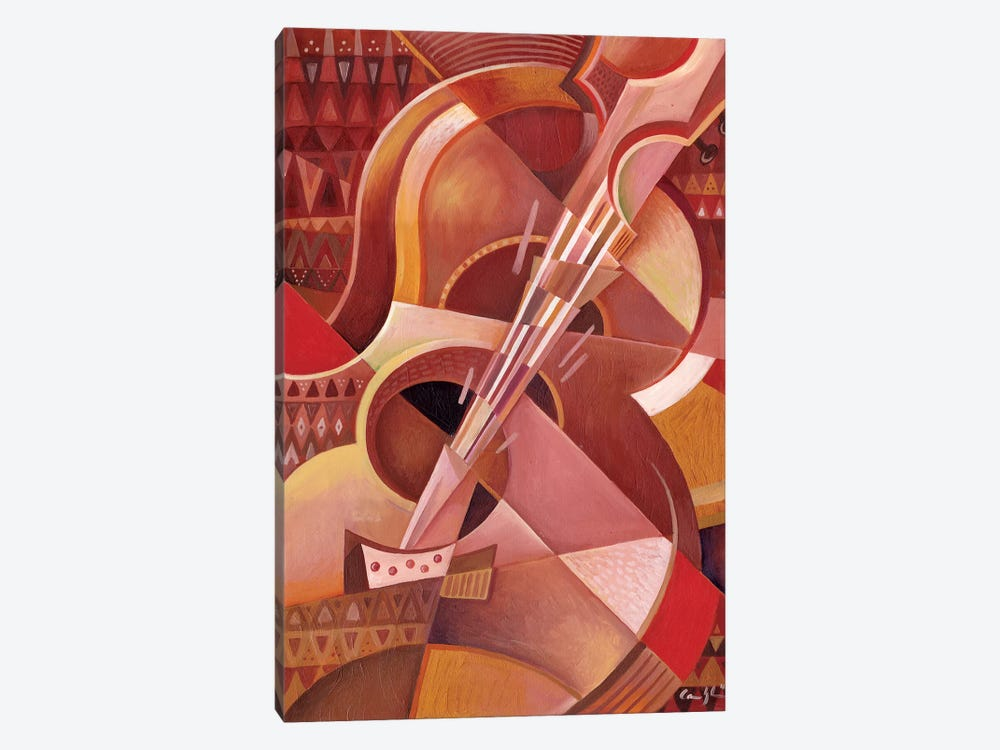 Red Guitar by Martin Cambriglia 1-piece Canvas Art Print