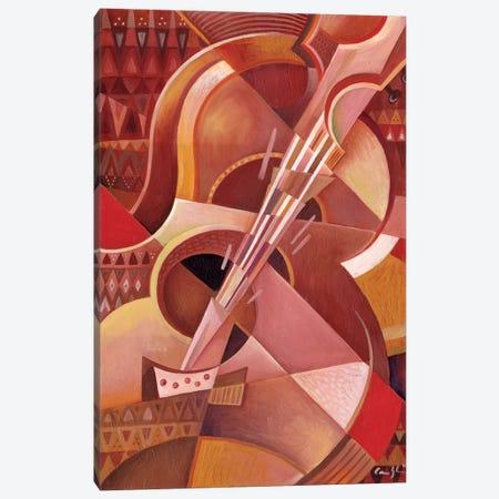 Red Guitar Canvas Print #CBG23} by Martin Cambriglia Canvas Print