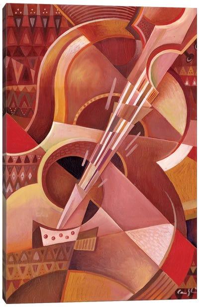 Red Guitar Canvas Art Print