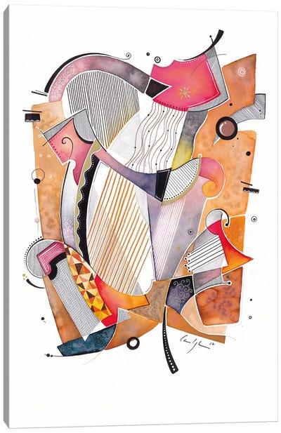 Red Harps Canvas Art Print
