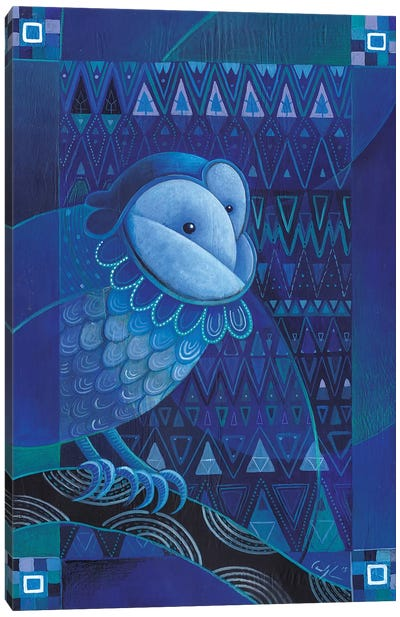 Siberian Barn Owl Canvas Art Print