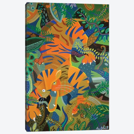 Tiger Tiger Burning Bright Canvas Print #CBG38} by Martin Cambriglia Canvas Artwork