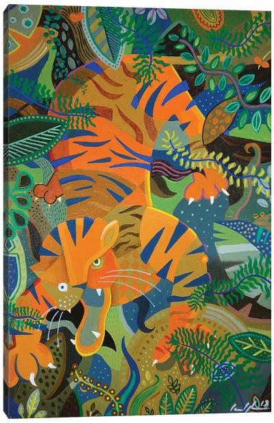 Tiger Tiger Burning Bright Canvas Art Print