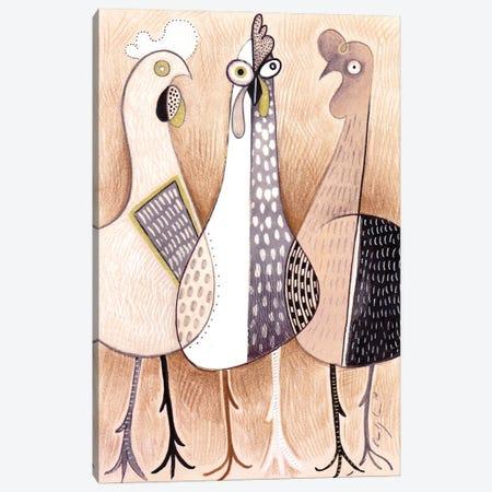 Three Cute Cockerels Canvas Print #CBG42} by Martin Cambriglia Art Print