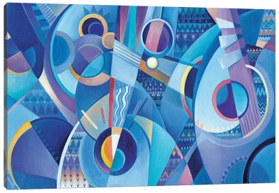 Blue Mandolins Canvas Art Print