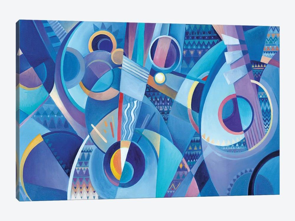 Blue Mandolins by Martin Cambriglia 1-piece Art Print